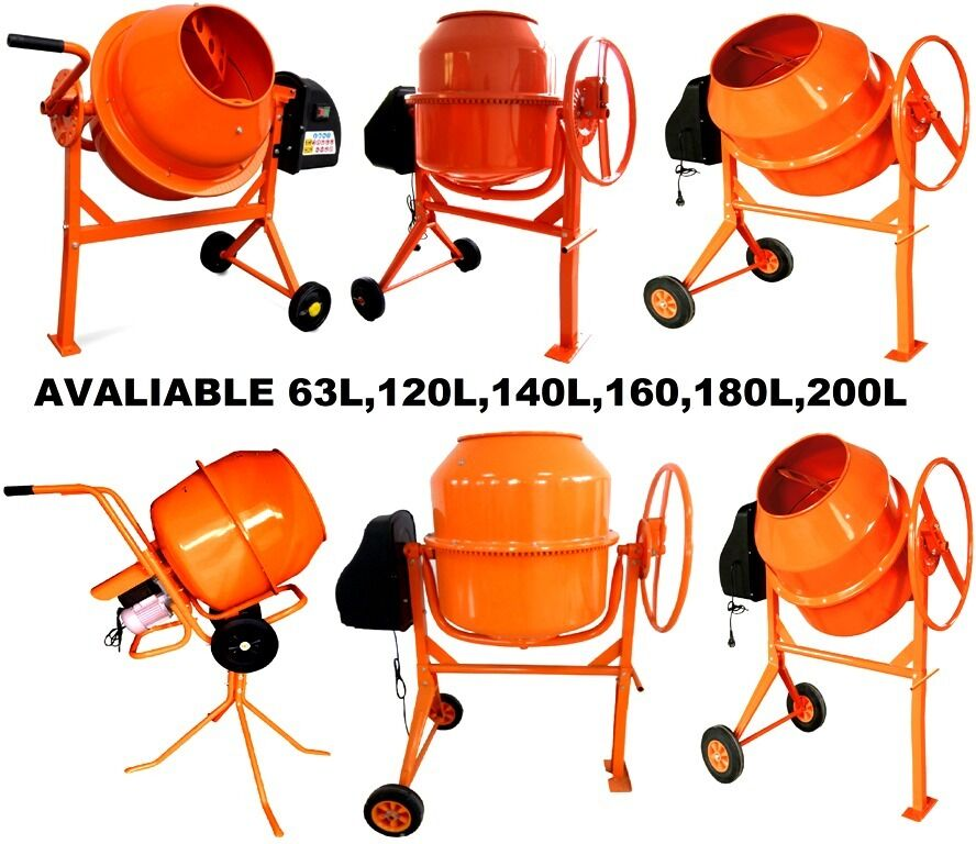 BRAND NEW ELECTRIC CEMENT CONCRETE MIXERS AVAILABLE IN 6 DIFFERENT SIZES