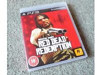 PS3 Red Dead Redemption Game Excellent condition with manual