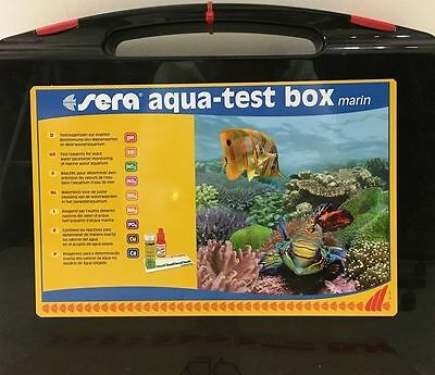 SERA Acqua Test box acquario marino Valori Ph Kh Nh4 Nh3 No2 No3 Po4 Cu Calcio