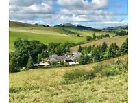 'Kinwhirrie Cottage' for sale, located in a beautiful rural location near Kirriemuir, Angus.