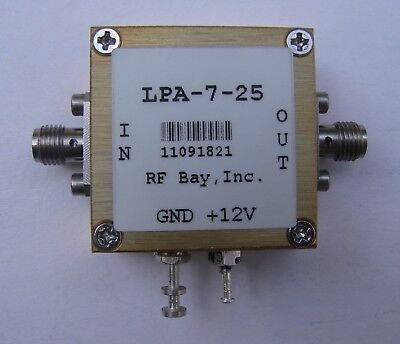 Rf Bay 100khz - 7000mhz Rf Amplifier Lpa-7-25 New Sma