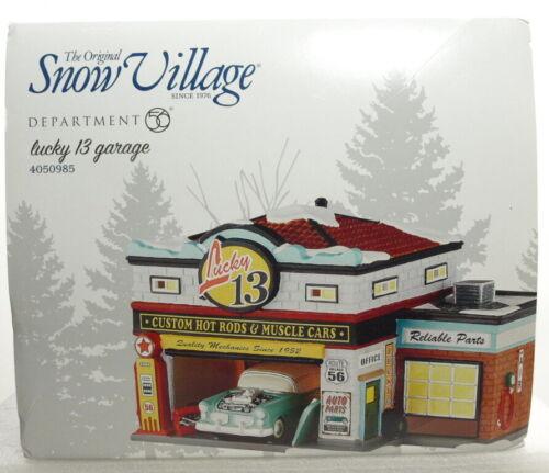 """DEPT 56 SNOW VILLAGE SERIES """"LUCKY 13 GARAGE"""" BRAND NEW"""