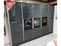 Ex Display Kitchen, Granite Island and NEFF Induction Hob, Fridge Freezer, Coffee Machine & MORE