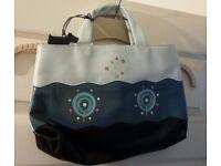 Brand New Blue Leather Handbag by Radley