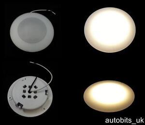 1 x 15 led 12v round roof interior light lamp 83mm caravan bus motorhome boat ebay. Black Bedroom Furniture Sets. Home Design Ideas