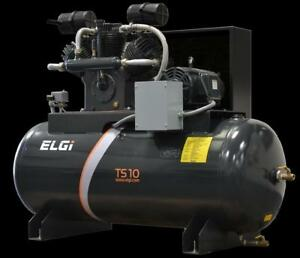 ELGi Lubricated 100% Duty Cycle Industrial 10HP Piston Compressor - $103.40/month for 60 months with no collateral!!