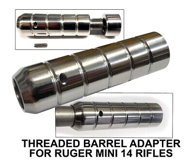 Threaded Adapter For Ruger - 12x28 - W Protector - Stainless Steel - Free Ship