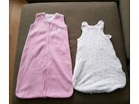 Two baby sleeping bags 0-6 6-12 months