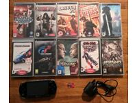 Sony PSP with 10 games