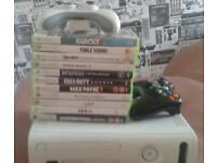 Xbox 360 with 11 games and 2 pads