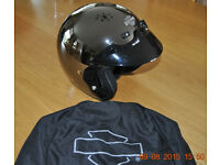 Genuine Harley Davidson Open Face Helmet with Peak
