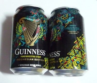 EMPTY - GUINNESS STOUT BEER Edition UNITY can INDONESIA 330ml Collect 2017