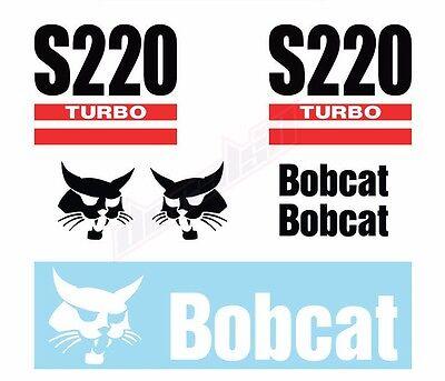 Bobcat S220 Turbo Skid Steer Set Vinyl Decal Sticker - Free Shipping
