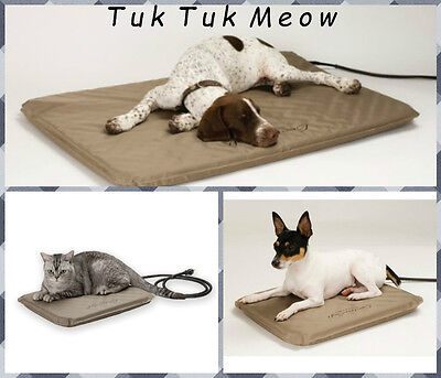 K&H electric Heated Pet Bed Warmer Indoor Outdoor Dog Cat Bed Electric S/M/L