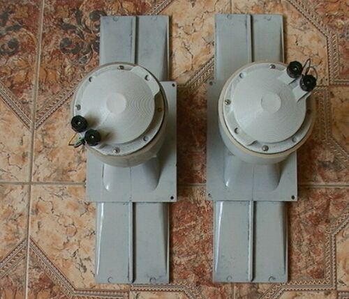 PAIR LOMO KINAP 1A22 1A-22 RARE HIGH FREQUENCY DRIVERS WITH LOMO HORNS