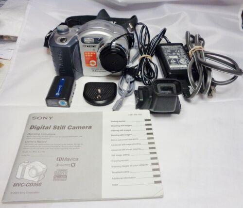 Sony Digital Camera MVC-CD350 3.2 Mega Pixel with 3x Optical Zoom + many extras