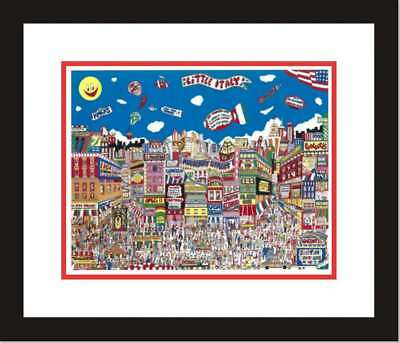 LITTLE ITALY, NY-   by AL SCHREIBER 3-D ARTWORK HAND SIGNED &NUMBERED-FRAMED