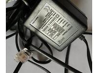 BT AC/DC ADAPTER MHH41-08-05 022072 6.5VDC 9VDC 300mA 150mA