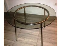 IKEA chrome and glass dining table plus 4 chairs