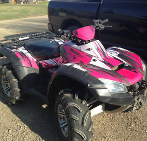 2007 Honda TRX Rincon 680 Camo Green with Pink decals