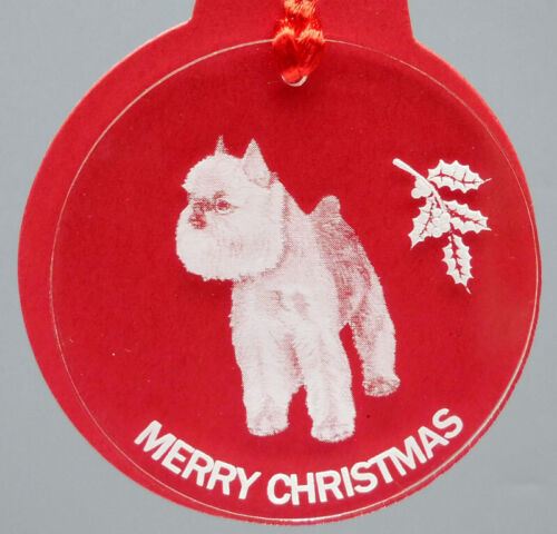 BRUSSELS GRIFFON DOG ORNAMENT, LUCITE,