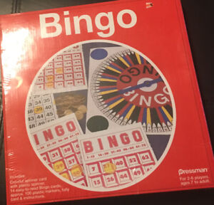 Brand new Bingo Game for Ages 7 plus. Still in plastic cover.
