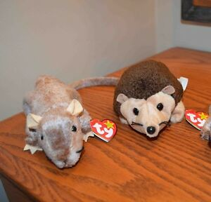 Ty Beanie Babies *Retired & Rare* - Set of 4 Rodents
