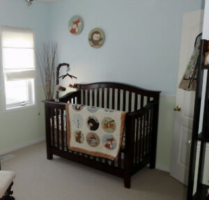 Shermag Nursery/Crib Furniture Set - 3 pieces for price of 1!