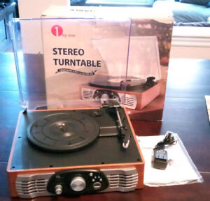 1 by One 3-Speed Belt-Driven Stereo Turntable Record Player