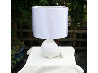 Golf Ball style lamp with white oval shade, as new with label still on - Christmas Gift