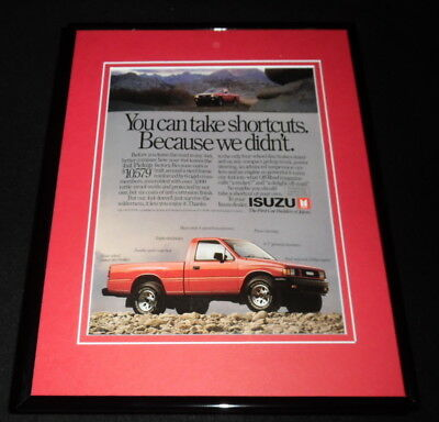 1989 Isuzu 4x4 Framed 11x14 ORIGINAL Advertisement