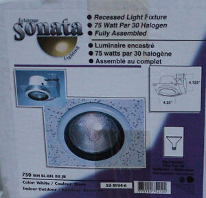 (2) Recessed Light Fixtures White, New in Box by SONATA