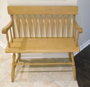 BANC EN ÉRABLE NATUREL / SOLID MAPLE BENCH