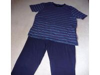 Two Identical Pairs of Mens Cotton Pyjamas from Marks & Spencer Size XL