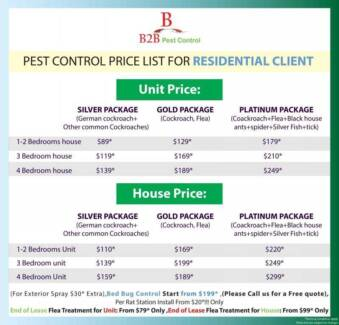 B2B pest control end of lease from 89