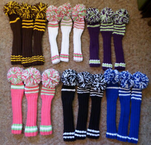New Hand Knitted Golf Club Head Covers