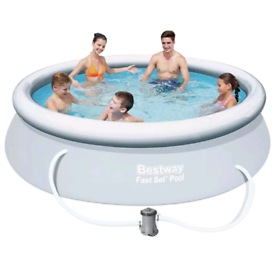 Bestway 10ft Fast Set Quick Up Round Family Swimming Pool