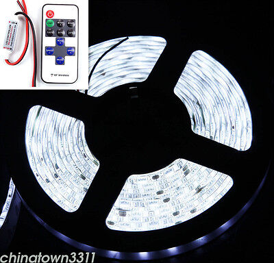 DC 12V 16Ft WaterProof Flexible LED Strip Light for Boat Truck Car Auto White
