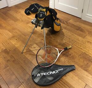 Ensemble de Golf et Raquette de Tennis pour enfants