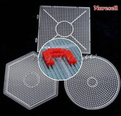 Large Pegboard for Perler Bead/Hama Fuse Beads Clear Square Design Board-Applied - Fused Beads