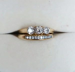 Engagement/Wedding Band Set from Charm