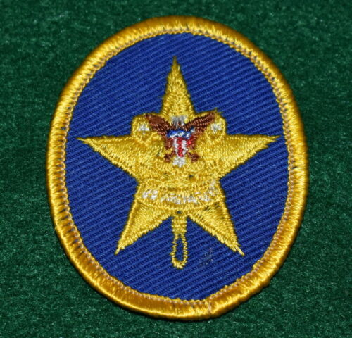 BOY SCOUT RANK PATCH - STAR - PLASTIC BACK