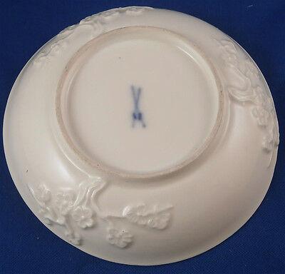 Rare 18thC 1740 Meissen Porcelain Prunus Blossom Saucer Porzellan Untertasse