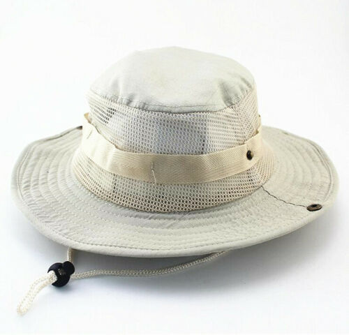 Bucket Hat Boonie Hunting Fishing Outdoor Wide Brim Safari Camo Sun Cap