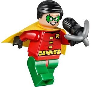 LEGO-DC-Comics-Superheroes-ORIGINAL-CLASSIC-ROBIN-Minifigure-NEW-w-WEAPON