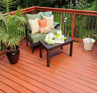 Quality deck staining, cleaning and repairs this week