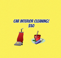 I will clean your car interior!