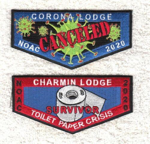 TP13 OA BSA Scouts CORONA / CHARMIN LODGE NOAC 2020 CANCELED 2 FLAP SET