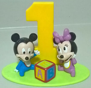 """Disney Babies """"MICKEY&MINNIE MOUSE"""" First BIRTHDAY Cake Topper"""