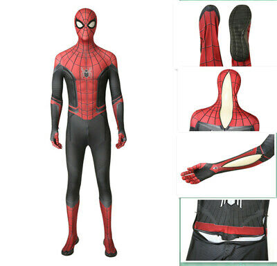Spider-Man Far From Home Costume Peter Parker Cosplay Halloween Suit +Sole New - Peter Parker Halloween Costume